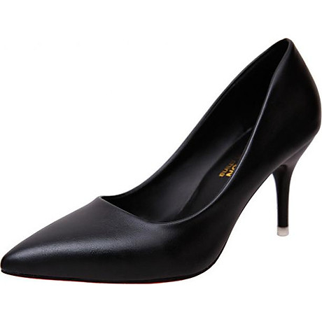 Giày cao gót nữ basic 7 phân da bò GCG03 1