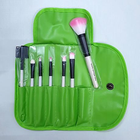 Bộ cọ trang điểm 7 món Wooden Makeup Kit (Xanh lá) 1