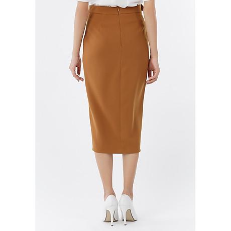 Chân váy ôm form dài phối nút 3