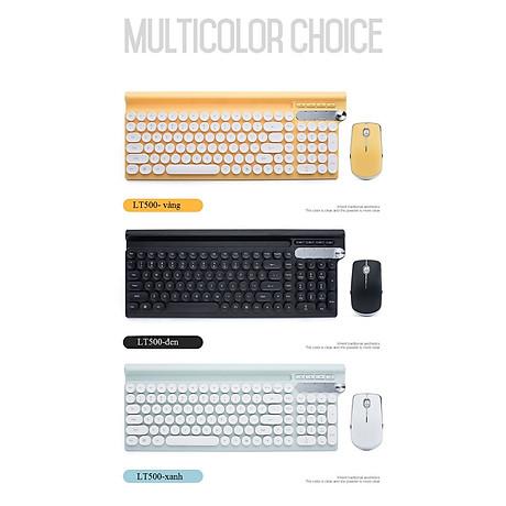 Bộ bàn phím và chuột không dây LT500 (Tặng kèm lót ) 7