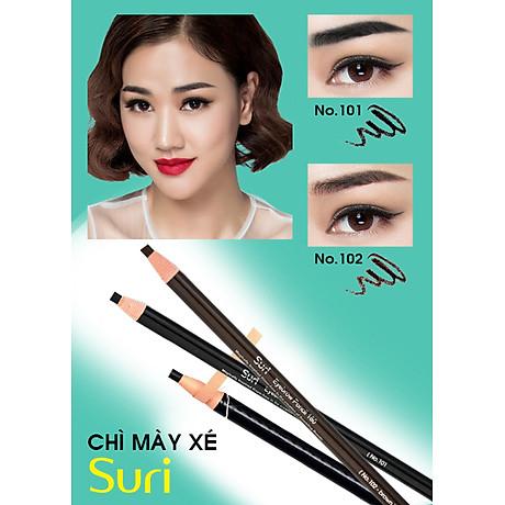Chì mày xé Suri Eyebrow Pencil Hàn Quốc No.101 Black tặng kèm móc khoá 3