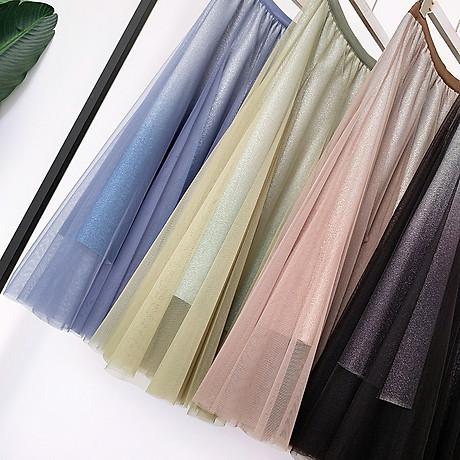 Váy xòe lưới tutu loang mầu lấp lánh VAY53 4