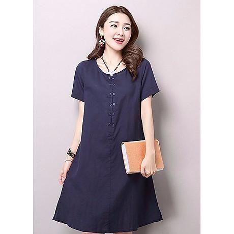 Đầm suông form rộng chữ A xẻ tà gấu LAHstore, thời trang phong cách Hàn Quốc 1