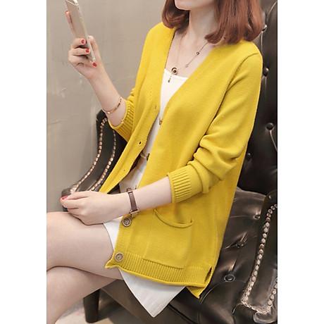 Áo cardigan len nữ 2 túi trước thời trang phong cách Hàn Quốc DV15 1
