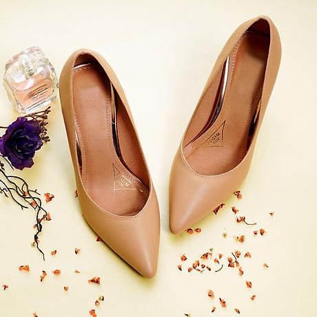 Giày cao gót nữ, cao 9CM, da Microfiber nhập khẩu cao cấp êm ái,. Mũi nhọn, gót trụ B.PG5324.9F 4