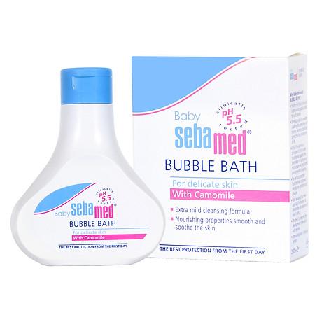 Sữa Tắm Tạo Bọt Dịu Nhẹ Cho Bé Sebamed Baby Bubble Bath pH 5.5 SBB01B (200ml) 2