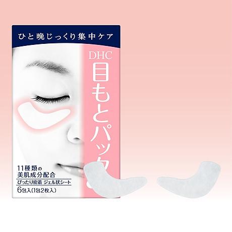 Mặt Nạ Dưỡng Da Vùng Mắt DHC Pack Sheet Eyes 6pc 50ml 3