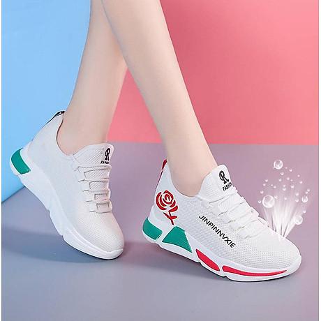 Giày sneaker thể thao nữ buộc dây phong cách hàn quốc màu đen, trắng size 36 đến 40 V179 6