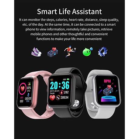 Đồng hồ thông minh Y68 LED và cảm ứng siêu mượt, hiển thị Cuộc gọi, Theo dõi sức khoẻ - Giao màu ngẫu nhiên 3