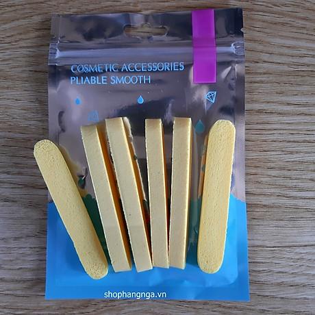 Bông Bọt Biển Rửa Mặt Cao Cấp Mira 6 miếng gói tặng kèm móc khóa 3
