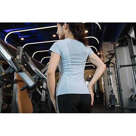Áo thể thao nữ áo yoga ngắn tay vải khô nhanh phiên bản Hàn Quốc DX-034 7