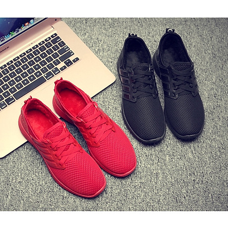Giày thể thao cặp đôi nam nữ buộc dây C95 đỏ 4