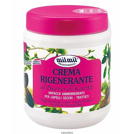 Kem phục hồi tóc tinh chất bơ Milmil Cream Karite Butter 1000ml tặng kèm móc khóa 2