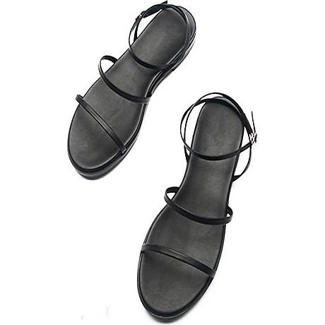 Sandal Nữ Quai Mảnh Đế Bệt Black Basic 1
