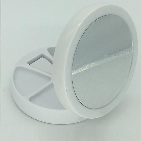 Gương trang điểm gấp gọn có đèn led 4