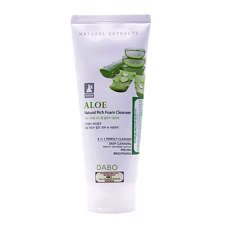 Sữa rửa mặt Hàn Quốc Dabo Aloe Natural Rich Foam Cleanser (180ml) 2
