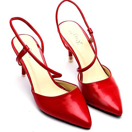 Giày Cao Nữ 2 Dây Mozy MZSD031.1 - Đỏ 4