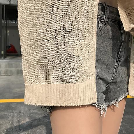 Áo Khoác Cardigan Nữ Len Mỏng Dệt Kim Siêu Hot 4