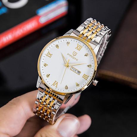 Đồng hồ nam PAGINI PA5588 dây thép kim dạ quang cao cấp chống nước 3ATM 4