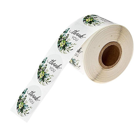 500pcs Per Roll Thank You Sealing Stickers Round Paper Labels Christmas Sticker 4