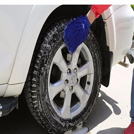 Bộ 2 găng tay lau rửa xe siêu mềm thấm hút tốt chuyên dụng cho ô tô xe máy (Màu ngẫu nhiên) 4