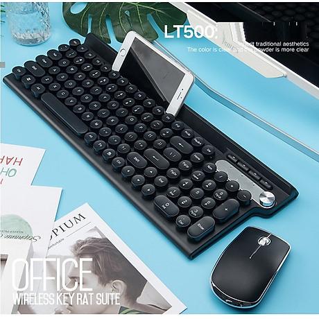 Bộ bàn phím và chuột không dây LT500 (Tặng kèm lót ) 2