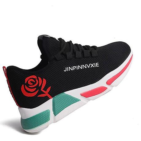 Giày sneaker thể thao nữ buộc dây phong cách hàn quốc màu đen, trắng size 36 đến 40 V179 3