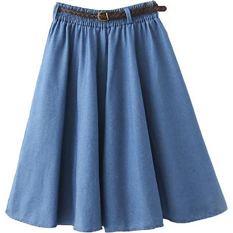 Chân váy Denim kèm thắt lưng chất thoáng mát free size VAY02 1