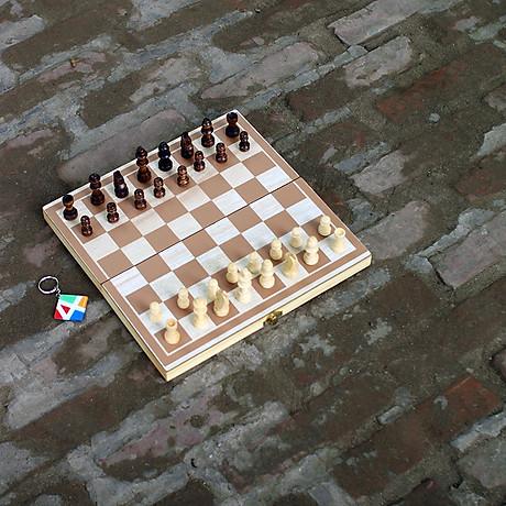 Bộ cờ vua cao cấp bằng gỗ tự nhiên an toàn cho bé, đồ chơi phát triển trí tuệ cho trẻ em - Tặng hướng dẫn đánh cờ vua giỏi. 2