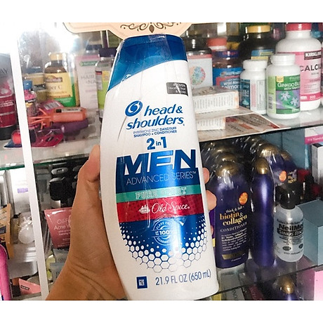 Dầu gội và xả Head & Shoulders Men 2in1 Old Spice Pure Sport 650ml 3