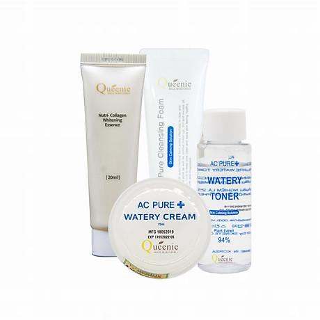 Bộ loại bỏ sạm nám, tàn nhang Queenie bổ sung Collagen trải nghiệm 4 sản phẩm 1