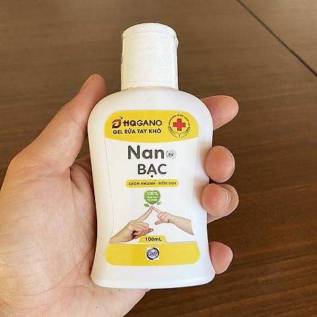 Nước Rửa Tay Khô Nano Bạc HQGANO - 100ml 3