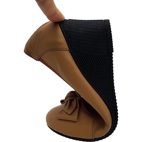 Giày Đế Xuồng Cao Gót 5cm Da Bò Thật Đi Êm Mềm Mại, Cổ Chun Ôm Chân 5P0116 2