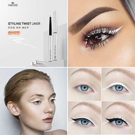 Chì Vặn Kẻ Mắt Dạng Sáp Vacosi Natural Studio Styling Twist Liner (Silver) 3