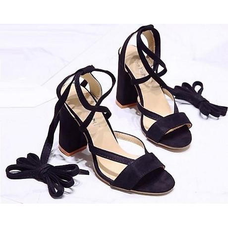 Giày cao gót đế vuông 10 phân quấn dây S082 1