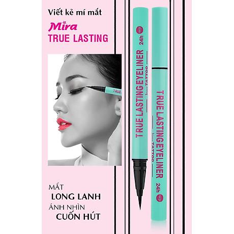 Viết lông kẻ mí Mira true lasting eyeliner Hàn Quốc 0.8 ml màu xanh tặng kèm móc khoá 2