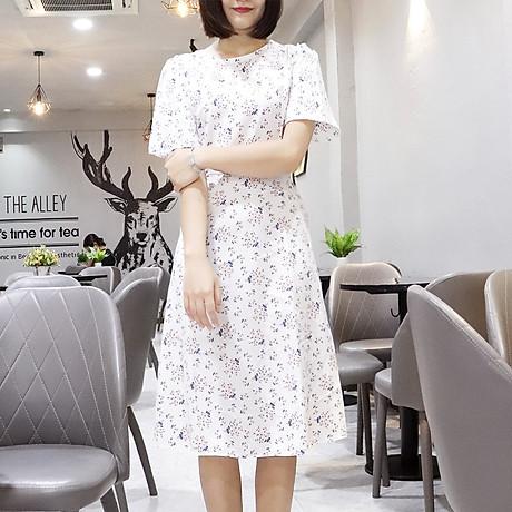 Đầm váy nữ dài hoa nhí, dáng xoè, đẹp nhẹ nhàng, đơn giản, ngọt ngào RD037.2 5