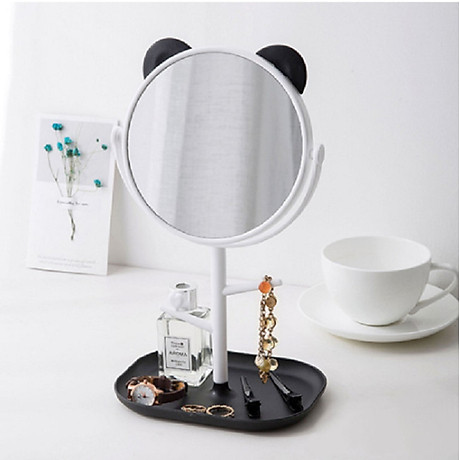 Gương trang điểm tai mèo tròn xoay 360 độ 3