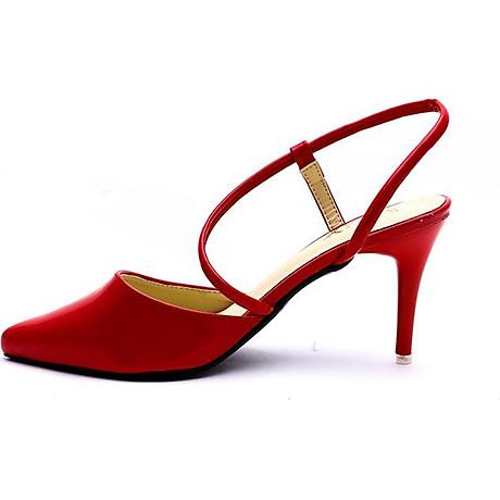 Giày Cao Nữ 2 Dây Mozy MZSD031.1 - Đỏ 3
