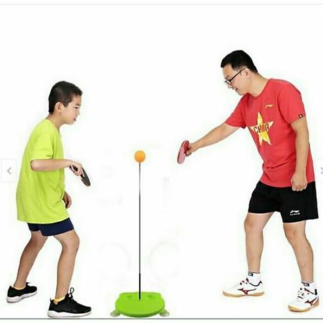 Bộ bóng bàn luyện tập phản xạ vợt cán gỗ cho bé vui chơi mọi lúc mọi nơi 4