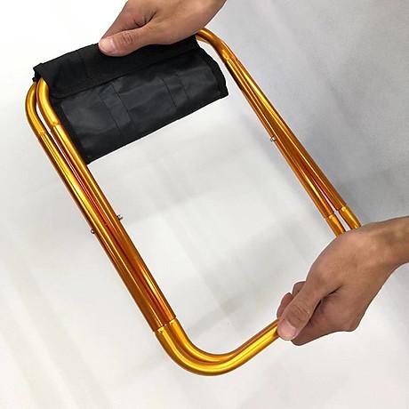 Ghế gấp du lịch mini tiện dụng (Màu ngẫu nhiên) - Tặng kèm miếng thép đa năng 11in1 3