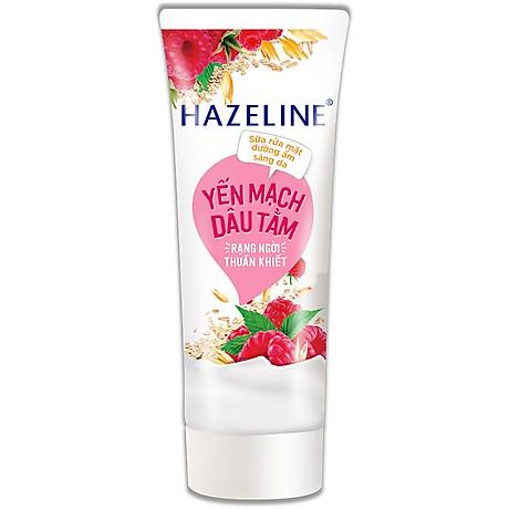 Sữa Rửa Mặt Hazeline Dưỡng Ẩm Sáng Da Yến Mạch Và Dâu Tằm (100g) 1