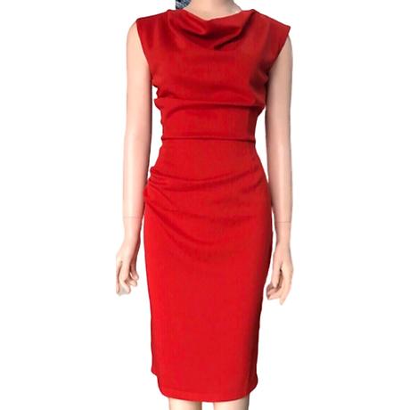 Đầm ôm đỏ cổ đổ ( dưới 60kg ) MAI017 6