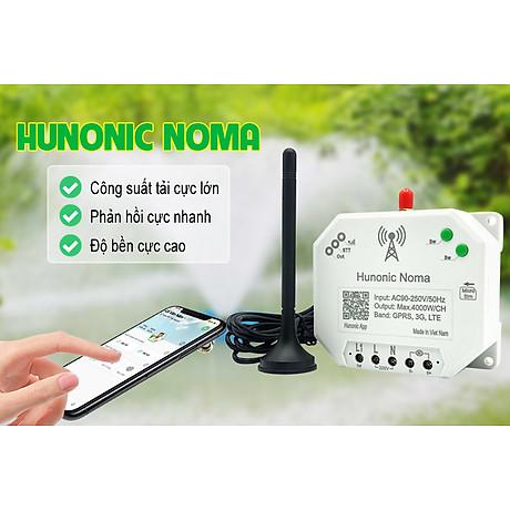Công tắc thông minh Hunonic Noma Điều khiển mọi thiết bị từ xa qua điện thoại dùng sim- Hàng Việt Nam Chất Lượng Cao 8
