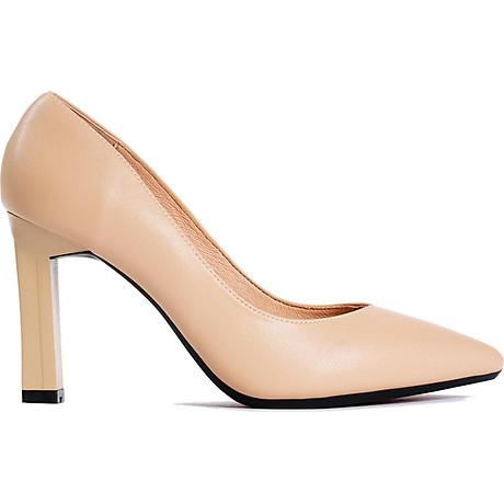 Giày cao gót nữ, cao 9CM, da Microfiber nhập khẩu cao cấp êm ái,. Mũi nhọn, gót trụ B.PG5324.9F 1