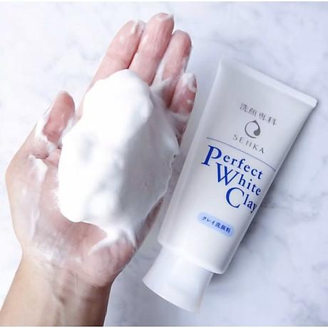 Combo 2 Tuýp Sữa Rửa Mặt Đất Sét Trắng Sạch Sâu Sáng Mịn Senka Perfect White Clay Chiết Xuất Tơ Tằm Dưỡng Ẩm (120g) 5