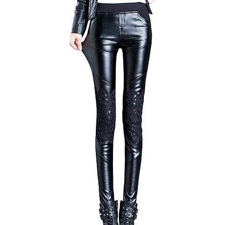 Quần legging nữ ren phối thun 106 1