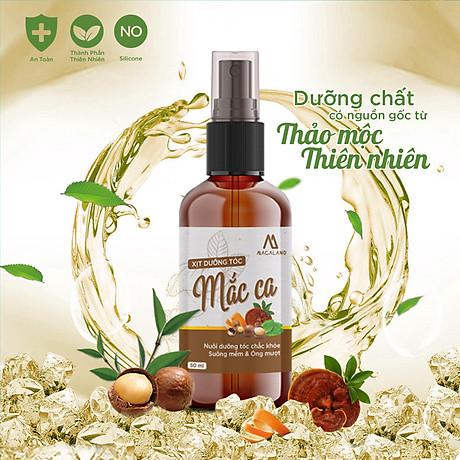 Xịt dưỡng tóc Macadamia 30ml MACALAND công dụng nuôi dưỡng và phục hồi mái tóc bồng bềnh, giảm xơ rối không gây bết dính hương thơm nhẹ nhàng hàng chính hãng công ty, xuất xứ Việt Nam 3