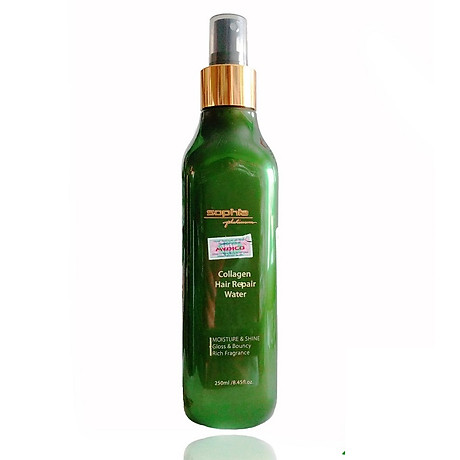 Xi t dươ ng to c siêu mượt Sophia Platinum Collagen Hair Repair Water 250ml 4