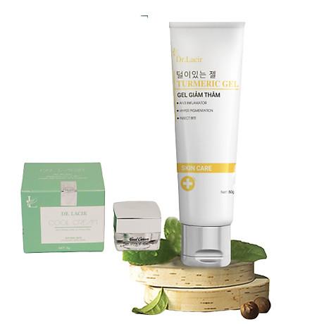 Kem mờ thâm mụn, sẹo, nám, vết thương, trắng mịn, ngừa tăng sắc tố Dr. Lacir tặng Kem Ngày Cool Cream Chống Nắng, Makeup Dr Lacir 5Gr 1